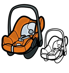 Baby Car Seat vector image
