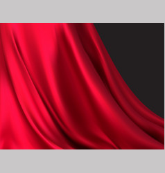 Background luxurious red fabric or liquid wave vector