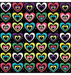 background with the coloured hearts vector image
