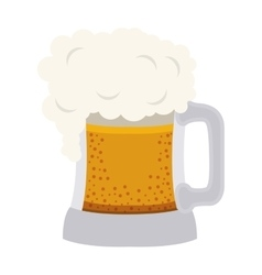 Beer mug drink vector