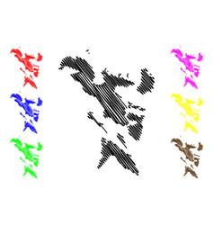 bicol region map vector image