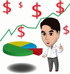 Business executives are describing a financial gra vector image