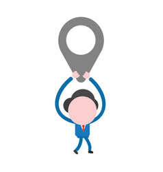 businessman character walking and holding up map vector image