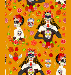 Calavera woman vector