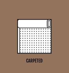 Carpet floor floor covering flat linear icon vector