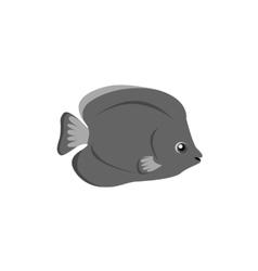 Chaetodon Larvatus Ocean Fish Icon vector image