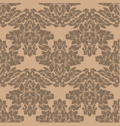 damask seamless pattern intricate design vector image
