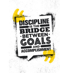 Discipline is the bridge between goals and vector