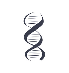 dna logotype of nucleotides carrying genetic info vector image
