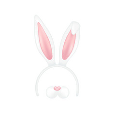easter mask with rabbit ears isolated on white vector image