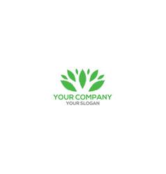 Element green leaf logo design vector