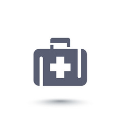 first aid kit medicine chest icon vector image