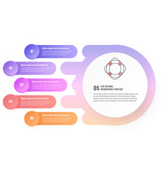 five steps infographic template vector image