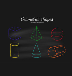 geometric shapes set vector image