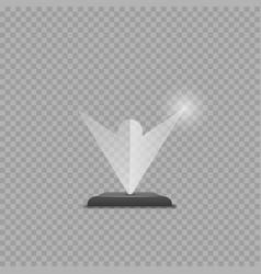 glass winner trophy award vector image