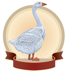 Graphical goose vector image