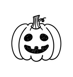 Hallowen pumpkin sketch hand drawn set vector