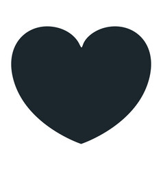 Hand drawing dark blue color heart shape vector