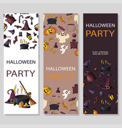 happy halloween card design for holiday vector image