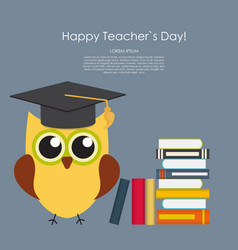 Happy teachers day concept background vector