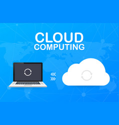 hosting cloud concept with computer smartphone vector image
