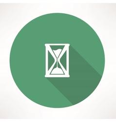 Hourglass icon vector