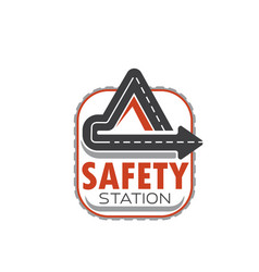 Icon of road safety station vector