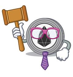 Judge eos coin character cartoon vector