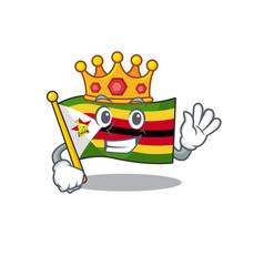 King indonesian flag zimbabwe on cartoon character vector
