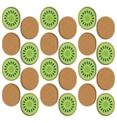 Kiwi fruits background design vector