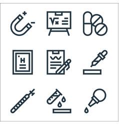 laboratory line icons linear set quality line set vector image