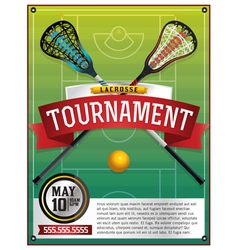 Lacrosse Tournament Flyer vector image
