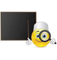 Lesson medicine with funny smile vector