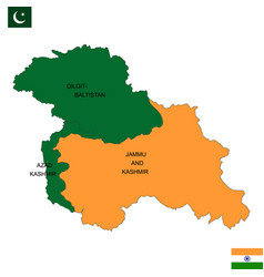 Map of kashmir is a geographical region vector