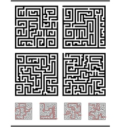 maze game diagrams set vector image
