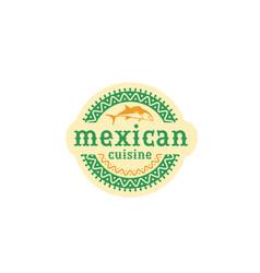 Mexican logo food vector