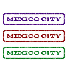 Mexico city watermark stamp vector