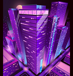modern skyscrapers buildings isometric vector image