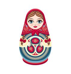 Moscow matreshka slavic souvenir vector