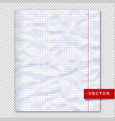 Notebook page lined paper transparent background vector