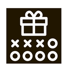 Number needed to receive gift icon glyph vector