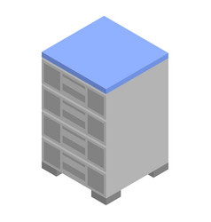 Office nightstand icon isometric style vector