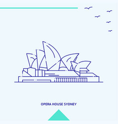 opera house skyline vector image