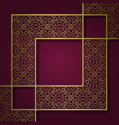 Ornamental background with square frame vector