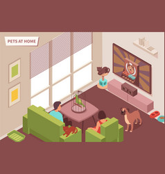 pets at home composition vector image