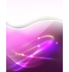 pink light ray vector image