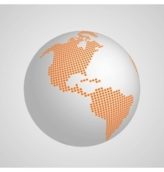 planet Earth globe with squared map of vector image