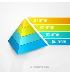 Pyramid infographic design template vector
