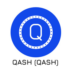 qash qash crypto coin icon vector image