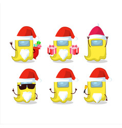 Santa claus emoticons with ghost among us yellow vector